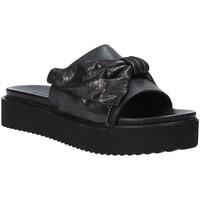 Schoenen Dames Leren slippers Grunland CI1519 Zwart