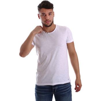 Textiel Heren T-shirts korte mouwen Key Up 233SG 0001 Wit