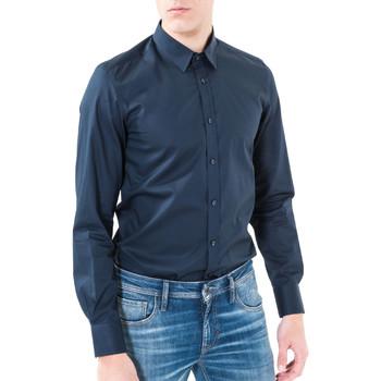 Textiel Heren Overhemden lange mouwen Antony Morato MMSL00362 FA400042 Blauw