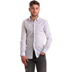 Textiel Heren Overhemden lange mouwen Antony Morato MMSL00428 FA430302 Wit