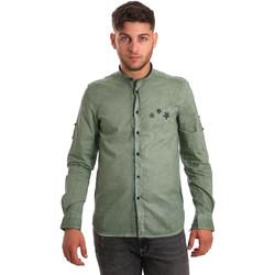 Textiel Heren Overhemden lange mouwen Antony Morato MMSL00452 FA400014 Groen