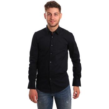 Textiel Heren Overhemden lange mouwen Antony Morato MMSL00472 FA450001 Blauw