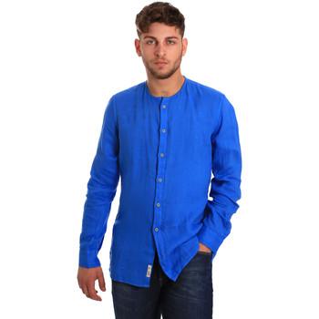 Textiel Heren Overhemden lange mouwen Gaudi 811BU45022 Blauw