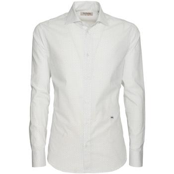 Textiel Heren Overhemden lange mouwen Nero Giardini P873051U Blanc