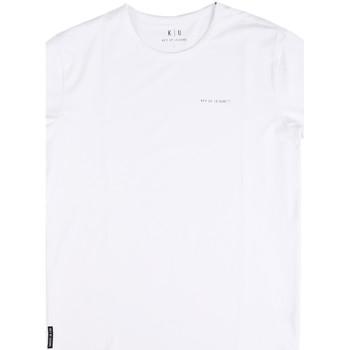 Textiel Heren T-shirts korte mouwen Key Up 2G69S 0001 Wit