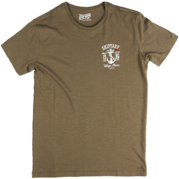 Textiel Heren T-shirts korte mouwen Key Up 2G77S 0001 Groen