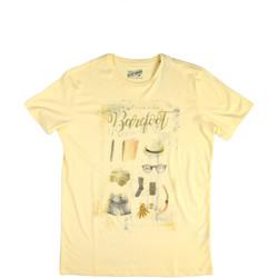 Textiel Heren T-shirts korte mouwen Key Up 2G84S 0001 Geel