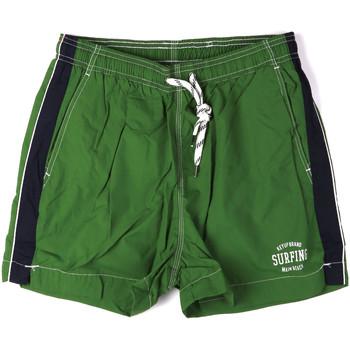 Textiel Heren Zwembroeken/ Zwemshorts Key Up 2H17X 0001 Groen
