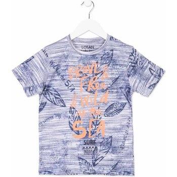Textiel Kinderen T-shirts korte mouwen Losan 813-1023AA Blauw