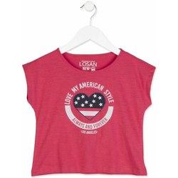 Textiel Meisjes T-shirts korte mouwen Losan 814-1023AB Roze