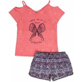Textiel Meisjes Setjes Losan 814-8022AB Roze