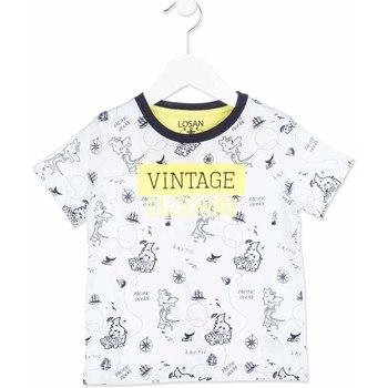 Textiel Kinderen T-shirts korte mouwen Losan 815-1004AC Wit