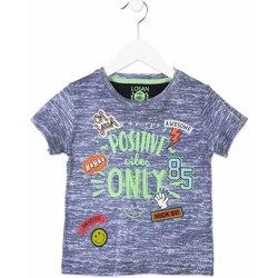 Textiel Kinderen T-shirts korte mouwen Losan 815-1017AC Blauw