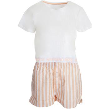 Textiel Dames Pyjama's / nachthemden Brave Soul  Wit/Roze
