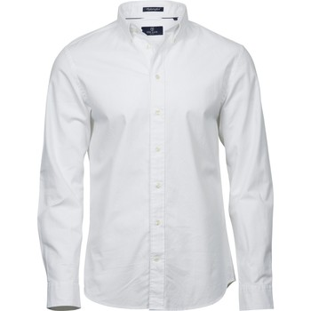 Textiel Heren Overhemden lange mouwen Tee Jays TJ4000 Wit
