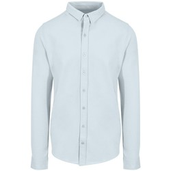 Textiel Heren Overhemden lange mouwen Awdis SD042 Blauw