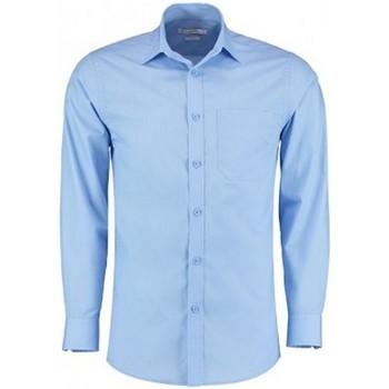 Textiel Heren Overhemden lange mouwen Kustom Kit K142 Lichtblauw