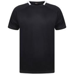 Textiel T-shirts korte mouwen Finden & Hales LV290 Marine / Wit