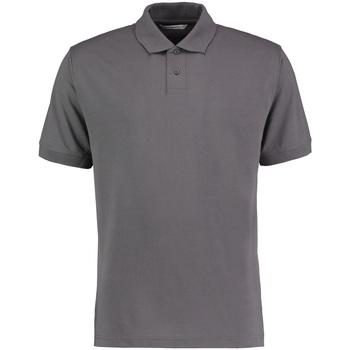 Textiel Heren Polo's korte mouwen Kustom Kit KK422 Houtskool Grijs