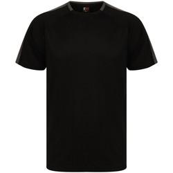 Textiel T-shirts korte mouwen Finden & Hales LV290 Zwart/Gunmetaal