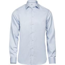 Textiel Heren Overhemden lange mouwen Tee Jays T4021 Lichtblauw
