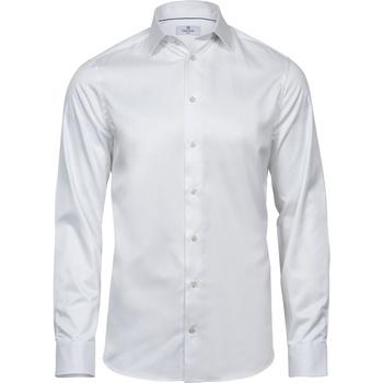 Textiel Heren Overhemden lange mouwen Tee Jays T4021 Wit