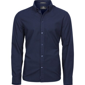 Textiel Heren Overhemden lange mouwen Tee Jays TJ4010 Marine