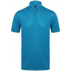 Textiel Heren Polo's korte mouwen Henbury HB460 Saffier