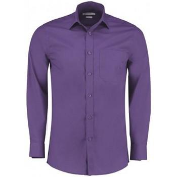 Textiel Heren Overhemden lange mouwen Kustom Kit K142 Paars