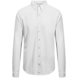 Textiel Heren Overhemden lange mouwen Awdis SD042 Wit