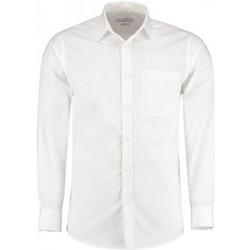 Textiel Heren Overhemden lange mouwen Kustom Kit K142 Wit