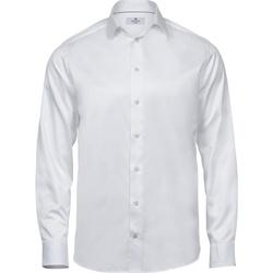 Textiel Heren Overhemden lange mouwen Tee Jays T4020 Wit