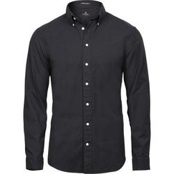 Textiel Heren Overhemden lange mouwen Tee Jays TJ4000 Zwart
