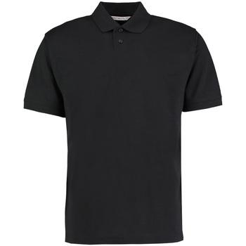 Textiel Heren Polo's korte mouwen Kustom Kit KK422 Zwart