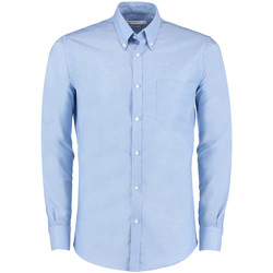 Textiel Heren Overhemden lange mouwen Kustom Kit KK182 Lichtblauw