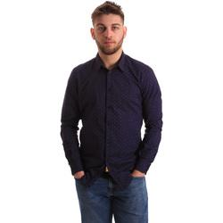Textiel Heren Overhemden lange mouwen Gaudi 821BU45012 Blauw