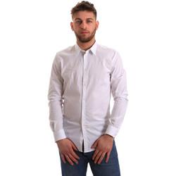 Textiel Heren Overhemden lange mouwen Gaudi 821BU45014 Wit