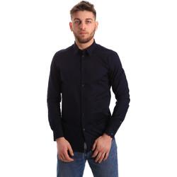 Textiel Heren Overhemden lange mouwen Gaudi 821BU45014 Blauw