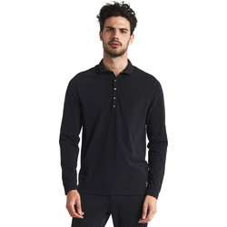 Textiel Heren Polo's lange mouwen Gaudi 821FU64012 Zwart