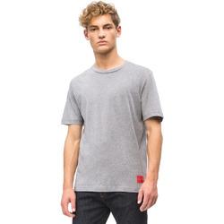 Textiel Heren T-shirts korte mouwen Calvin Klein Jeans J30J309616 Grijs