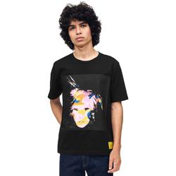 Textiel Heren T-shirts korte mouwen Calvin Klein Jeans J30J310572 Zwart