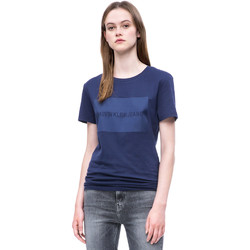 Textiel Dames T-shirts korte mouwen Calvin Klein Jeans J20J207949 Blauw