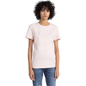 Textiel Dames T-shirts korte mouwen Calvin Klein Jeans J20J207949 Roze