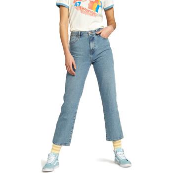 Textiel Dames Straight jeans Wrangler W238GF Blauw