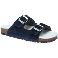 Schoenen Dames Leren slippers Grunland CB1679 Blauw