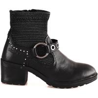 Schoenen Dames Enkellaarzen Wrangler WL182550 Zwart
