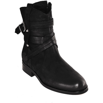 Schoenen Dames Enkellaarzen Mally 6431 Zwart