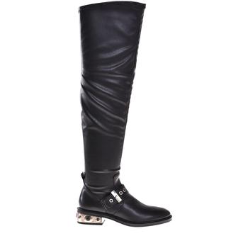 Schoenen Dames Hoge laarzen Elvio Zanon I8406P Zwart