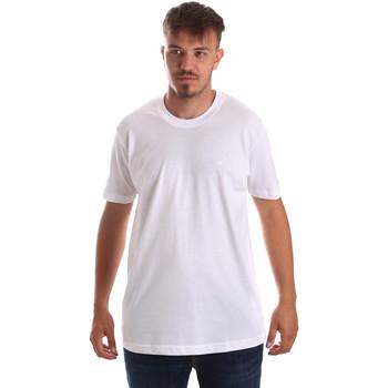Textiel Heren T-shirts korte mouwen Key Up 2M915 0001 Wit