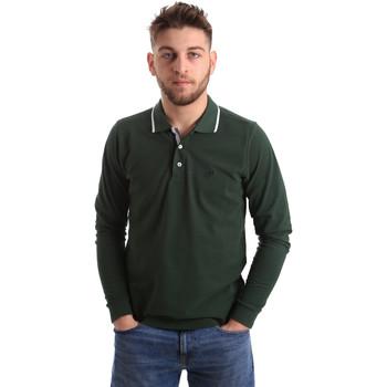 Textiel Heren Polo's lange mouwen Key Up 2L711 0001 Groen